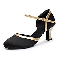 billige Kustomiserte dansesko-Dame Moderne sko Sateng / PU Høye hæler Kubansk hæl Kan spesialtilpasses Dansesko Svart
