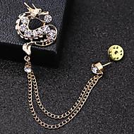 Herre Kvadratisk Zirconium Stilfuldt Brocher Trendy Mode Elegant Broche Smykker Guld Sølv Til Daglig Ferie
