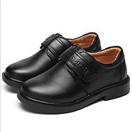baratos Sapatos de Menino-Para Meninos / Para Meninas Sapatos Pele Primavera Conforto Tênis Cadarço para Preto