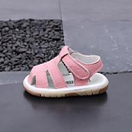 baratos Sapatos de Menino-Para Meninos / Para Meninas Sapatos Microfibra Verão Primeiros Passos Sandálias Velcro para Bebê Branco / Cinzento / Rosa claro