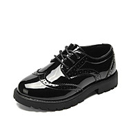 baratos Sapatos de Menina-Para Meninas Sapatos Couro Ecológico Outono & inverno Conforto Oxfords Cadarço de Borracha / Cadarço para Infantil Preto