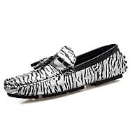 baratos Sapatos Masculinos-Homens Sapatos formais Microfibra Verão Conforto Mocassins e Slip-Ons Dourado / Prata