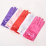 Spandex Fabric Wrist Length Glove Vintage Style / Gloves With Solid