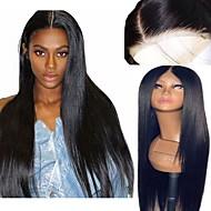 Peruci Sintetice / Lănțișoare frontale din sintetice Drept Kardashian Stil Frizură în Straturi Față din Dantelă Perucă Negru Negru Maro Închis Păr Sintetic 26 inch Pentru femei Moale / Ajustabil