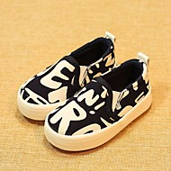 baratos Sapatos de Menino-Para Meninos Sapatos Lona Primavera & Outono Conforto Mocassins e Slip-Ons para Preto / Azul Escuro / Vermelho
