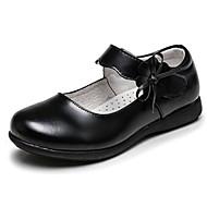 baratos Sapatos de Menina-Para Meninos / Para Meninas Sapatos Pele Primavera / Outono Conforto Rasos para Branco / Preto