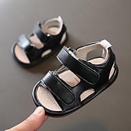 baratos Sapatos de Menino-Para Meninos Sapatos Couro Ecológico Primavera Verão Primeiros Passos Sandálias Velcro para Bebê Preto / Marron