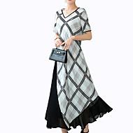 Dame Basale Skjorte Kjole - Geometrisk Midi
