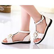 baratos Sapatos de Menina-Para Meninas Sapatos Microfibra Verão Conforto / Sapatos para Daminhas de Honra Sandálias para Branco / Verde / Rosa claro