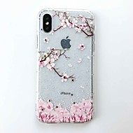 Etui Til Apple iPhone X / iPhone 8 GDS Bagcover Glitterskin Blødt TPU for iPhone X / iPhone 8 Plus / iPhone 8