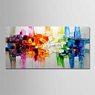 billiga Landskapsmålningar-Hang målad oljemålning HANDMÅLAD - Abstrakt / Landskap Moderna Utan innerram / Valsad duk