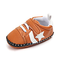 baratos Sapatos de Menino-Para Meninos Sapatos Couro Ecológico Primavera & Outono Primeiros Passos Tênis Velcro para Bebê Preto / Laranja