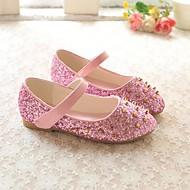 baratos Sapatos de Menina-Para Meninas Sapatos Couro Ecológico Primavera & Outono Conforto Rasos Lantejoulas / Tachas para Infantil Dourado / Prateado / Rosa claro