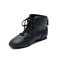 billige Jazz-sko-Herre Jazz-sko Griseskinn Joggesko Flat hæl Dansesko Svart