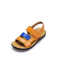 baratos Sapatos de Menino-Para Meninos Sapatos Microfibra Verão Conforto Sandálias Velcro para Infantil Branco / Amarelo / Peep Toe
