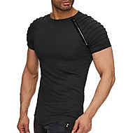 Men's Basic T-shirt - Solid Colored Round Neck Black XL / Short Sleeve