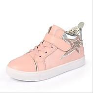 baratos Sapatos de Menino-Para Meninos / Para Meninas Sapatos Pele / Couro Ecológico Primavera Conforto Tênis Cadarço para Preto / Vermelho / Rosa claro