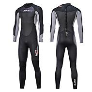 สำหรับผู้ชาย Wetsuits เต็ม 3mm SCR Neoprene ชุดดำน้ำ รักษาให้อุ่น แห้งเร็ว ออกแบบตามสรีระ แขนยาว ซิปหลัง - การว่ายน้ำ การดำน้ำ กีฬาทางน้ำ ฤดูใบไม้ผลิ & ฤดูใบไม้ร่วง ฤดูร้อน / ยืด / ซึ่งยืดหยุ่น