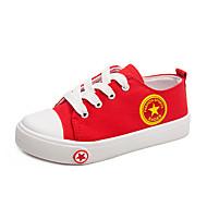tanie Obuwie dziewczęce-Dla dziewczynek Obuwie Płótno Wiosna i lato Wygoda Adidasy Spacery na Dla nastolatków Biały / Czarny / Czerwony