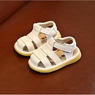 baratos Sapatos de Menina-Para Meninas Sapatos Couro Ecológico Primavera Verão Primeiros Passos Sandálias Velcro para Bébé / Bebê Bege / Amarelo / Rosa claro
