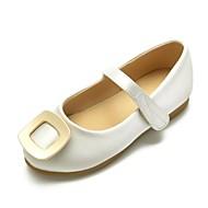 baratos Sapatos de Menina-Para Meninas Sapatos Cetim Primavera Verão Bailarina / Sapatos para Daminhas de Honra Rasos Presilha / Velcro para Infantil Verde / Rosa claro / Ivory / Casamento