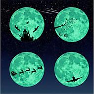 billiga Väggklistermärken-Klistermärken för strömbrytare - Väggstickers Flygplan / Lysande Väggstickers Halloween / Högtid Vardagsrum / Inomhus