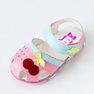 baratos Sapatos de Menina-Para Meninas Sapatos Microfibra Verão Conforto Sandálias Velcro para Bebê Branco / Rosa claro
