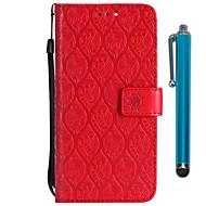 billiga Mobil cases & Skärmskydd-fodral Till LG LG V20 MINI / K10 2018 Plånbok / Korthållare / med stativ Fodral Blomma Hårt PU läder för LG V30 / LG V20 MINI / LG Q6