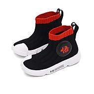 baratos Sapatos de Menina-Para Meninas Sapatos Tricô / Couro Ecológico Outono & inverno Conforto / Botas da Moda Botas Caminhada para Adolescente Preto