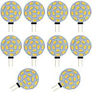 halpa -10pcs 2W 360lm G4 LED Bi-Pin lamput T 15 LED-helmet SMD 5730 Lämmin valkoinen Kylmä valkoinen 12-24V 12V