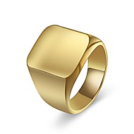 Men's Classic Ring Signet Ring Titanium Steel Casual / Sporty Ring Jewelry Gold / Silver For Daily Going out 7 / 8 / 9 / 10 / 11