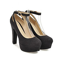 Kadın's Ayakkabı PU Bahar Rahat / Temel Topuklu Topuklular Stiletto Topuk Günlük için Altın / Siyah / Gümüş