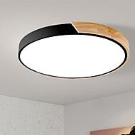 billige Taklamper-Sirkelformet Takplafond Omgivelseslys Malte Finishes Tre Metall Tre / Bambus Fargenivåer 220-240V Dimbar med fjernkontroll LED lyskilde inkludert / Integrert LED