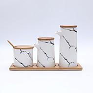 Χαμηλού Κόστους Βάζα & Κουτιά-Οργάνωση κουζίνας Σέικερ & Μύλοι / Ντισπένσερ Λαδιού / Κουτιά κουζίνας Ξύλο / Κεραμικό Νεό Σχέδιο / Αποθήκευση / Δημιουργική Κουζίνα Gadget 5pcs