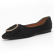 Χαμηλού Κόστους Άνετα μοκασίνια-Γυναικεία Παπούτσια PU Καλοκαίρι Μοκασίνι Χωρίς Τακούνι Επίπεδο Τακούνι Μυτερή Μύτη Φιόγκος Μαύρο / Καφέ / Χακί