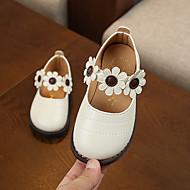 baratos Sapatos de Menina-Para Meninas Sapatos Couro Ecológico Outono & inverno Sapatos para Daminhas de Honra Rasos Caminhada Presilha para Infantil Branco / Bege / Rosa claro