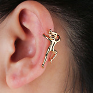 Women's Sculpture Clip on Earring Ear Cuff Earrings Creative Ladies Simple Cartoon Hip-Hop Cute Jewelry Gold / Silver For Party / Evening Going out Club 1pc