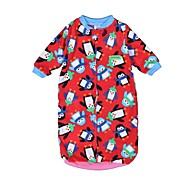 billige Undertøj og sokker til babyer-Baby Pige Basale Daglig Trykt mønster Printer Halvlange ærmer Bomuld / Polyester Nattøj Lyserød