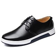 baratos Sapatos Masculinos-Homens Sapatos Confortáveis Couro Sintético Outono & inverno Casual Tênis Preto / Marron / Azul / Festas & Noite