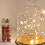 3m 30led aa batteridrevne udendørs dekoration ledet wire fairy string lys lamper til jul fest ferie bryllup