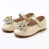 baratos Sapatos de Menina-Para Meninas Sapatos Couro Ecológico Verão Conforto Rasos Flor / Velcro para Infantil Dourado / Preto
