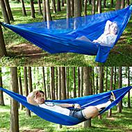 Camping-hængekøje med myggenet Udendørs Letvægt, Åndbarhed Nylon for Vandring / Camping / Rejse - 2 personer Sort / Mørkegrøn / Army Grøn