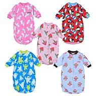 billige Undertøj og sokker til babyer-Baby Pige Basale Trykt mønster Halvlange ærmer Bomuld Nattøj