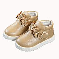 baratos Sapatos de Menina-Para Meninas Sapatos Couro Ecológico Outono & inverno Conforto Botas Caminhada para Infantil Dourado / Rosa claro / Vinho