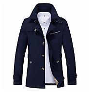 남성용 일상 가을 겨울 보통 자켓, 모던 스탠드 긴 소매 폴리에스테르 네이비 블루 / 옐로우 / 카키 XXXL / 4XL / XXXXXL