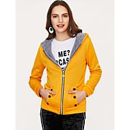 Dame Ensfarvet Simple / Afslappet I-byen-tøj Frakke Bomuld