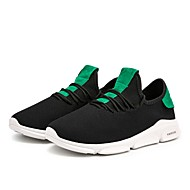baratos Sapatos Masculinos-Homens Tricô / Com Transparência Verão Conforto / Solados com Luzes Tênis Corrida / Caminhada Branco / Preto / Preto / verde