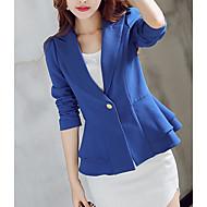 kvinders arbejdsbeskyttelse afslappet blazer-solid farvet hak lapel