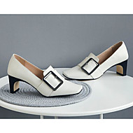 baratos Sapatos Femininos-Mulheres Sapatos Pele Napa Primavera & Outono Conforto / Plataforma Básica Saltos Salto Sabrina Branco / Preto / Marron