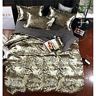 cheap High Quality Duvet Covers-Duvet Cover Sets Luxury Polyster Jacquard 4 Piece Bedding Sets / 400 / 4pcs (1 Duvet Cover, 1 Flat Sheet, 2 Shams) king